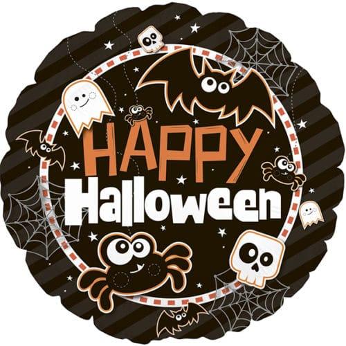 Шар 23 см мини-круг Хэллоуин Черный