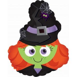 Шар 28 см Мини-фигура Маленькая ведьмочка