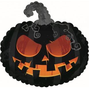 Шар 28 см Мини-фигура Тыква на Хэллоуин Черный