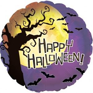 Шар 46 см Круг Ночь на Хэллоуин Фиолетовый