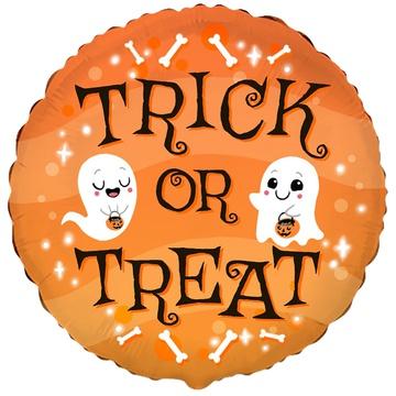 Шар 46 см Круг TRICK OR TREAT Хэллоуин