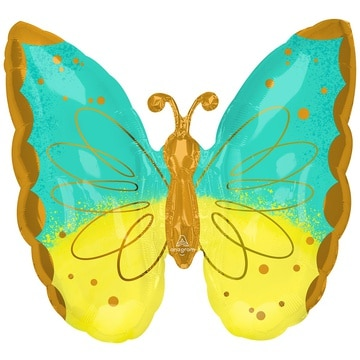 Шар 63 см Фигура Бабочка MintYellow