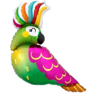 Шар 78 см Фигура Попугай Тропический