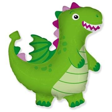 Шар 92 см Фигура Дракон зеленый