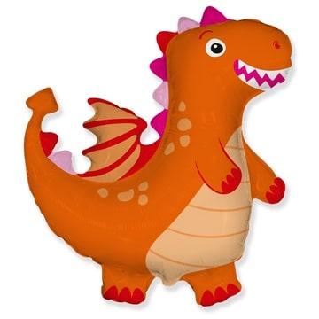 Шар 92 см Фигура Дракон оранжевый