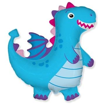 Шар 92 см Фигура Дракон синий