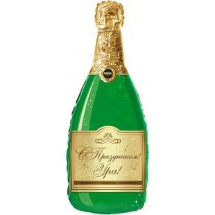 Шар 94 см Фигура Бутылка Шампанское С Праздником