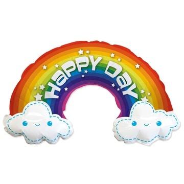 Шар 99 см Фигура HAPPY DAY Радуга в облаках