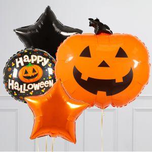 Связка из воздушных шаров на Хеллоуин Тыква Звезды