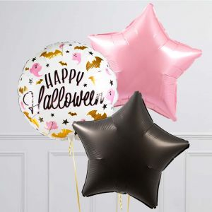 Связка из 3 шаров Гламурный Хеллоуин Розовый с Черным