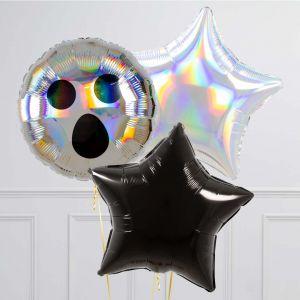 Связка из 3 шаров Привидение и Звезды