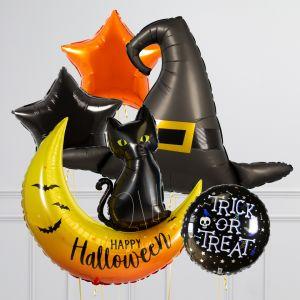 Связка из 5 шаров Ведьминский Хеллоуин