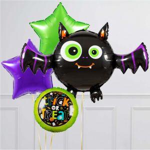 Связки из воздушных шаров на Хеллоуин Летучая мышь